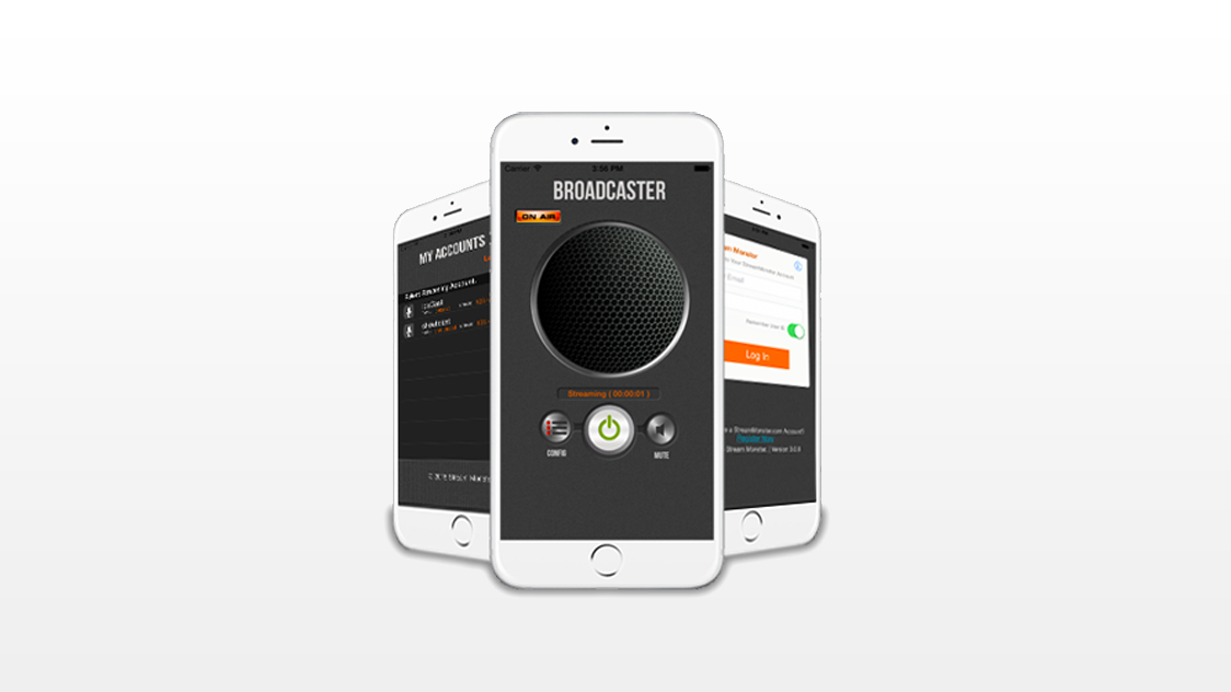Live broadcasting app for Shoutcast and Icecast